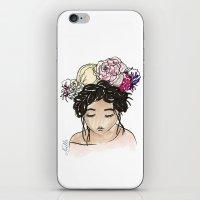 Flower Crown Clara iPhone & iPod Skin