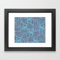 1982 Blue Framed Art Print