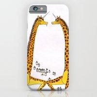 Unicorn Giraffes Dancing with Penguins iPhone 6 Slim Case