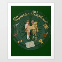 moonrise kingdom Art Prints featuring Moonrise Kingdom by KelseyMicaela