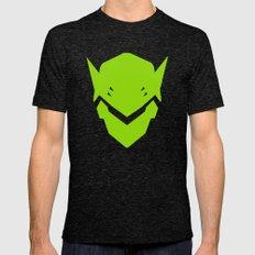 Green Ninja Mens Fitted Tee Tri-Black SMALL