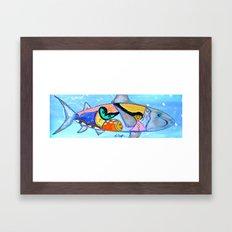 ALONE IN THE ABBYS Framed Art Print