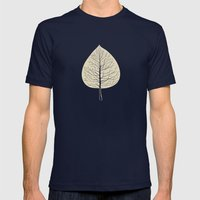 Tree-leaf Mens Fitted Tee Navy SMALL