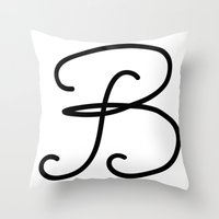 Letter  B Throw Pillow