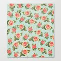 LONGING FOR SPRING- FLORAL PATTERN Canvas Print