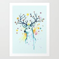 Butterfly Deer Art Print