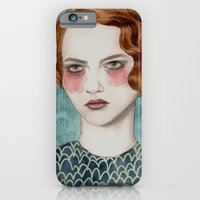 woman iPhone & iPod Cases featuring Sasha by Sofia Bonati