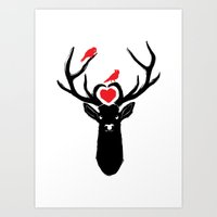 DEER MY LOVE Art Print