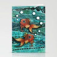 Baby Koi Tangle 2 Stationery Cards