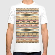 Aztec pattern White Mens Fitted Tee SMALL