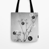 Tote Bag featuring Abstract Flowers 3 by Mareike Böhmer Grap…