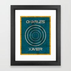 Minimalist Charles Xavier Framed Art Print