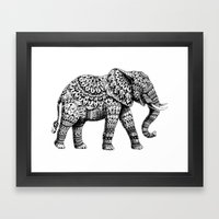 Ornate Elephant 3.0 Framed Art Print