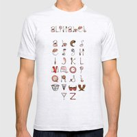 Spills & Spoons Alphabet Mens Fitted Tee Ash Grey SMALL