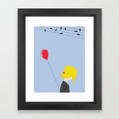 happiness in misery Framed Art Print
