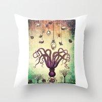 The Perfumed Garden Throw Pillow
