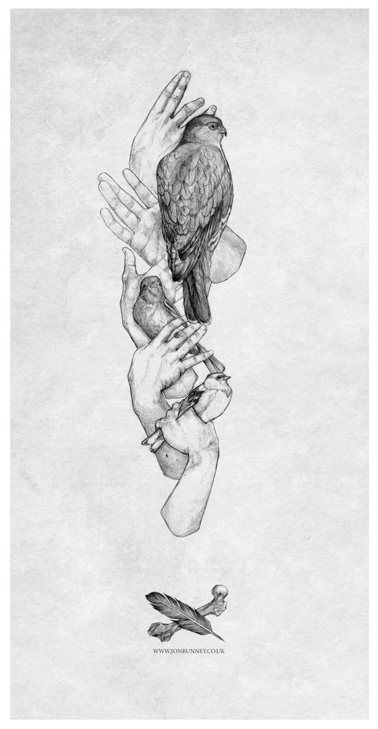 Birdhands Canvas Print