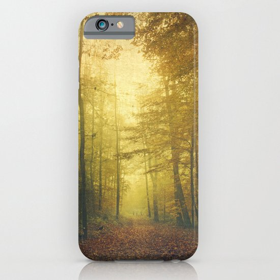 fall morning forest iPhone & iPod Case