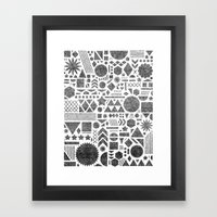 Modern Elements With Bla… Framed Art Print