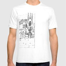 Childhood Drawings (Cathedral) Mens Fitted Tee SMALL White