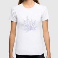 Weed Womens Fitted Tee Ash Grey SMALL