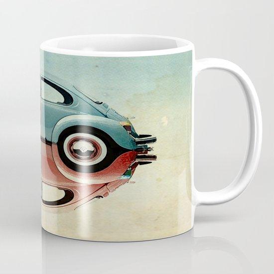 checkered 4 speed - VW beetle  Mug