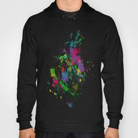 Paint Splatter on Black Background Hoody