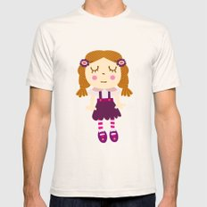 sleep doll Mens Fitted Tee Natural SMALL