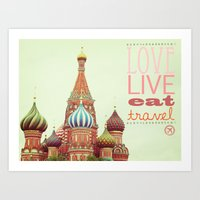 Love, Live, Eat, Travel Art Print