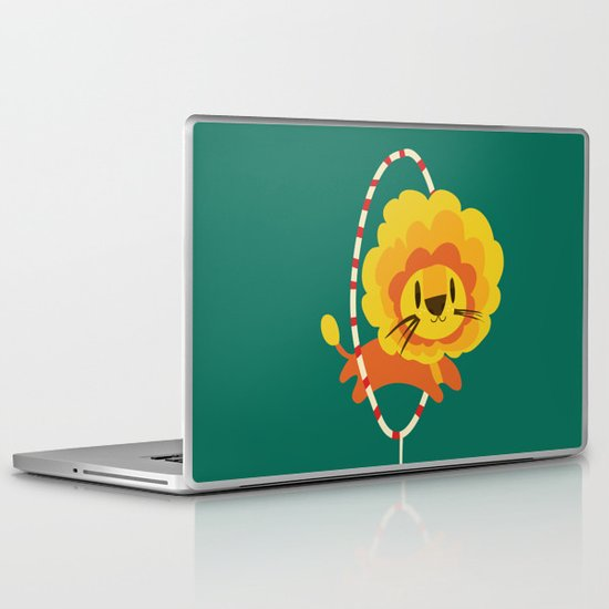 Lion hopped through a loop Laptop & iPad Skin