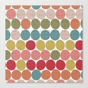 Tribal Dots Canvas Print