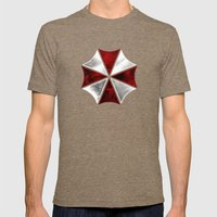 Resident Evil Umbrella C… Mens Fitted Tee Tri-Coffee SMALL