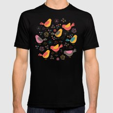 Quirky Chicks Black Mens Fitted Tee SMALL