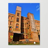 Canvas Print featuring Old Harmon building by Vorona Photography