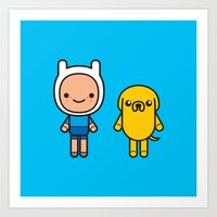 #48 Jake And Finn Art Print