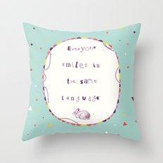 Smile Language Throw Pillow