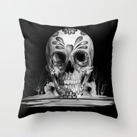 Throw Pillow featuring Pulled Sugar, Day Of The… by Kristy Patterson Des…
