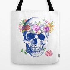 Halloween Skull Tote Bag