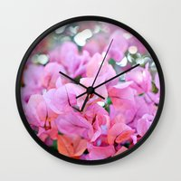 Bougainvillea II Wall Clock