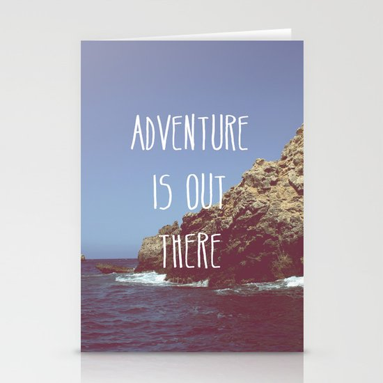 Adventure is out there Stationery Card