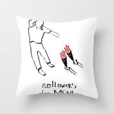 Flower men Throw Pillow