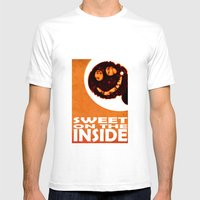 Sweet On The Inside Mens Fitted Tee White SMALL