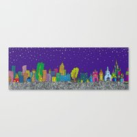 A night on the Town Canvas Print