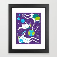 A Day Out In Space - Purple Framed Art Print