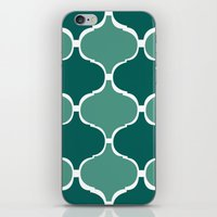 Marrakech Pattern Dark Green iPhone & iPod Skin