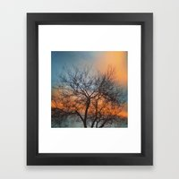 clouds changing colors Framed Art Print