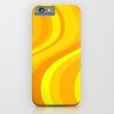 Orange Waves iPhone 6 Slim Case