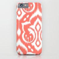 Ikat Damask Coral iPhone 6 Slim Case