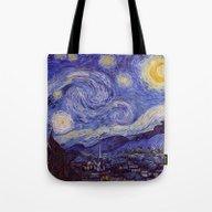 Vincent Van Gogh Starry … Tote Bag