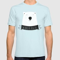 winter rocks Light Blue SMALL Mens Fitted Tee